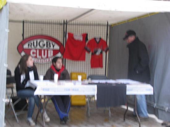 Le stand du Rugby Club Dijonnais
