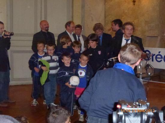 Les joueurs du Stade Dijon